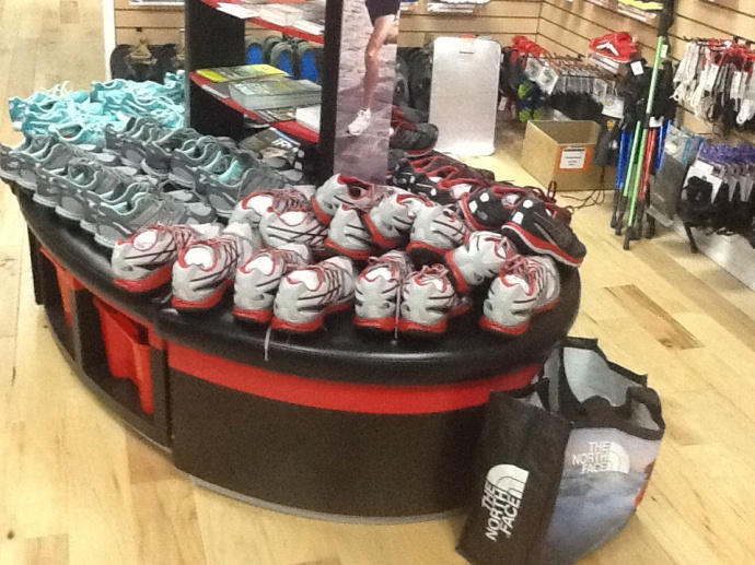 North Face had lots of shoes at the test run night.  #100happydays We love shoes!