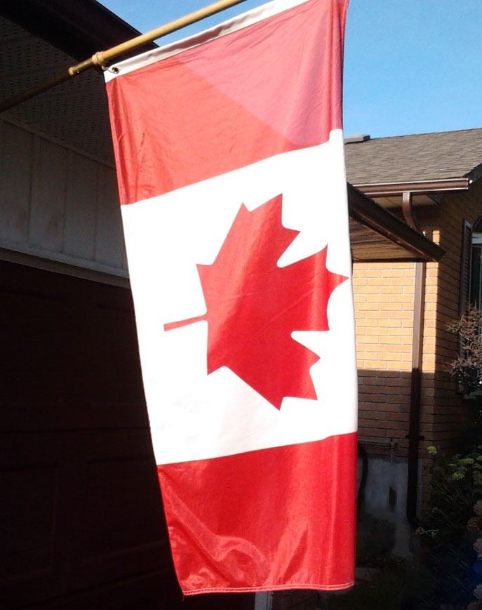 #100happydays Day 46 - Our Canadian Flag