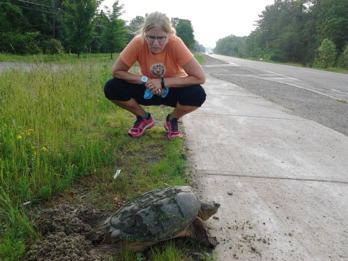 #100happdays Day 26 Glenis and mom turtle