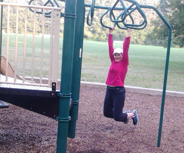 The overhead monkey bars