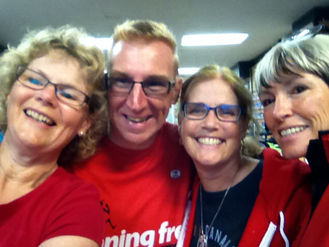 Working with some of our great Running Free team on Canada Day!