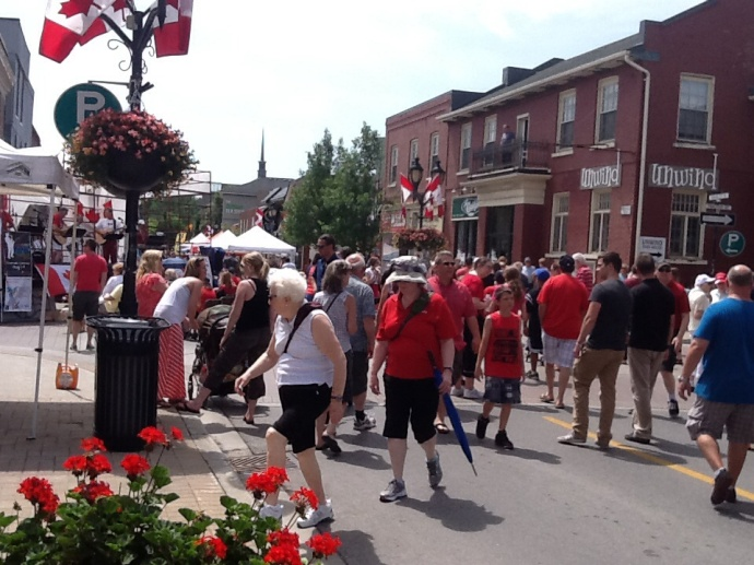 Main Street Newmarket was a party.