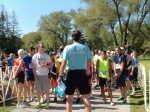 Getting instructions at the start of the 5K