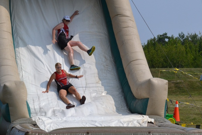 #100 happydays - Sliding in to the finish! Too much fun!