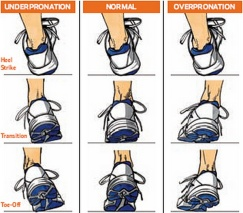 Pronation when you run.
