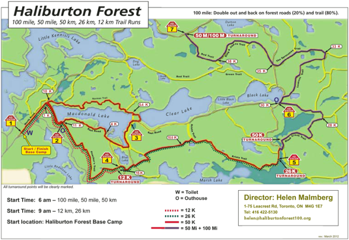 Haliburton Forest Tail Map
