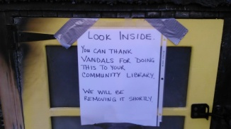 You can thank vandals...